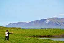 Vislumbrando los montes Islandeses