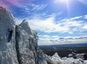 Escalando en el Glaciar Fjallsjokull