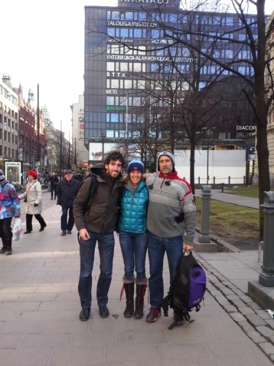 Mario, Eva, Íñigo en Helsinki