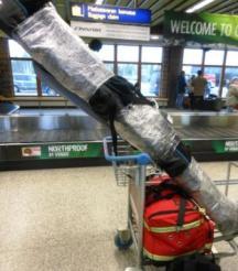 El paquetón de los esquís