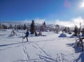 Sale el sol en Laponia