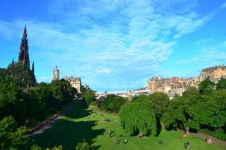 Edimburgo - Princes Street - Jardines