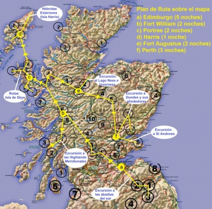 Escocia - Mapa Recorrido