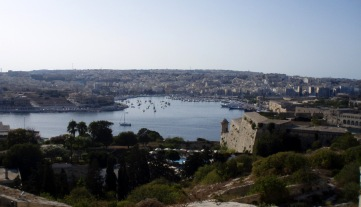 La Valletta - Vistas de Msida e Isla Manoel