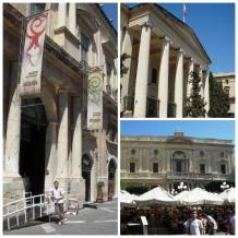 La Valletta - Museo de Arqueología, Palacio de Justicia y Biblioteca Nacional