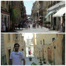 La Valletta - Republic Street y Triq L'Arcisqof