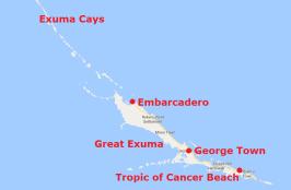 Mapa Exumas