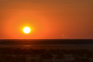Puesta de sol en Etosha